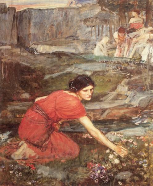 Waterhouse Maidens picking study